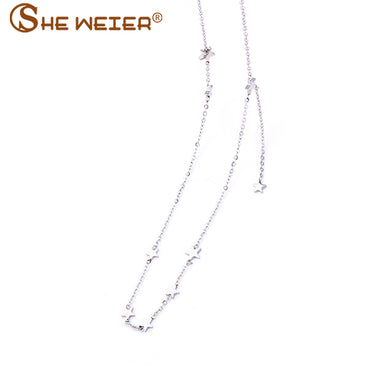 jewellery best friends stainless steel chain chocker star long necklaces