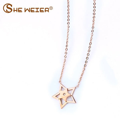 vintage women collar star neckless