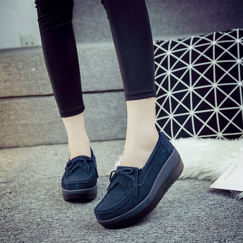 Moccasins Shoes Leather Slip On Flats Casual Flat Shoes