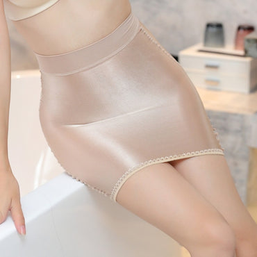 Gloosy Tight Pencil Cute Skirt See Through Candy Color Micro Mini Skirt