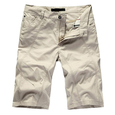 Casual  Solid Cotton Shorts