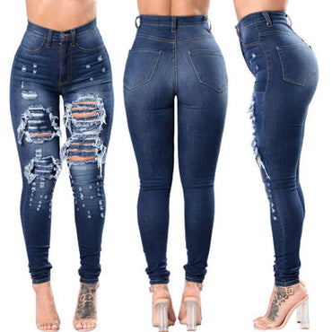 Holes Ripped Washed Casual  Jeans