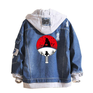 Cowboy Fake Two Pieces Sweatshirt Hole Denim Jackets
