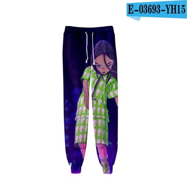 3d Billie Eilish Popular Print Pants Benovafashion