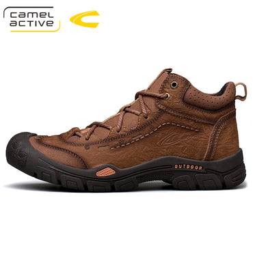 brown leather outdoor Boots