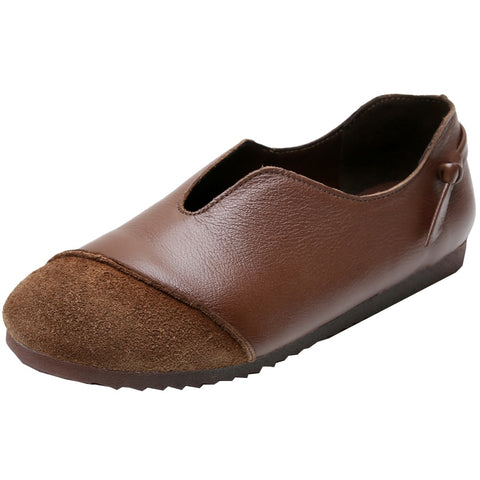 Genuine Leather Slip On Flat shoes