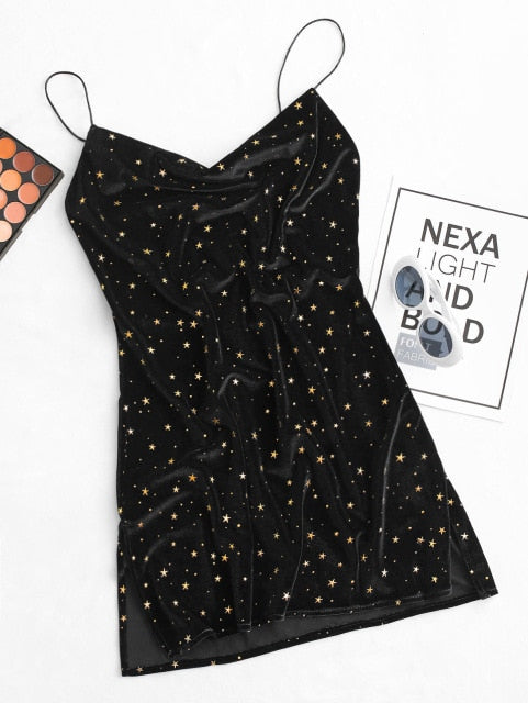 Star Cocktail Party Mini Dress