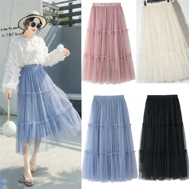 Loose BOHO Gypsy Chiffon Long Full Skirt