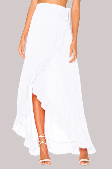 Long Maxi Chiffon Skirt