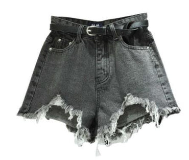 irregular Wide Leg Pants High Waist Denim Shorts