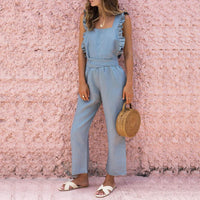 Party Overalls Elegant Solid Rompers