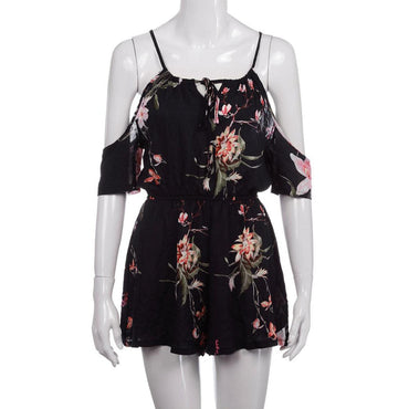 Casual Big Size Printing Floral Rompers
