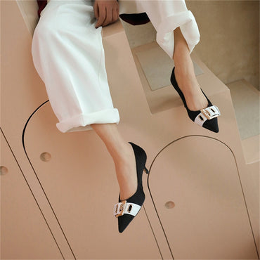 Metal Decoration Pumps Heels