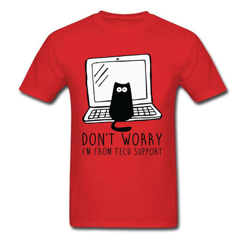 Computer Programs Cat Printed T-Shirt