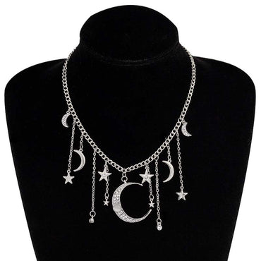 Star Moon Pendant Charms Choker Necklaces