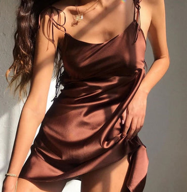 Sexy Satin Silk Dress