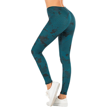 Dark Blue Printing Fitness leggings
