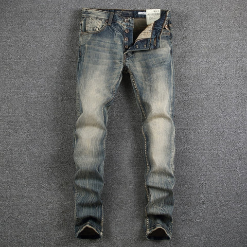 Retro Design Classic Denim Jeans