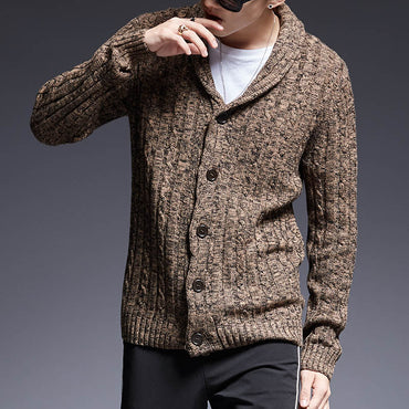 Slim Fit Jumpers Knitwear Thick Sweater