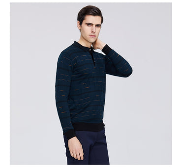 casual lapel sweater