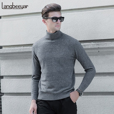 Wool Thick Turtleneck Sweater