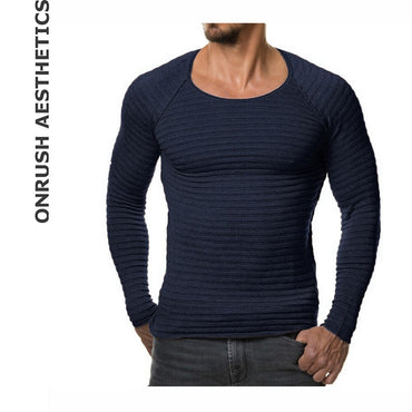 Round Collar Knitted Sweaters