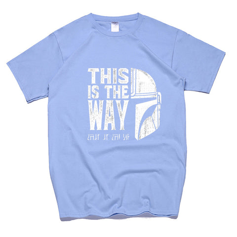 Cotton Short Sleeve This Is My Way Streetwear Crew Neck T-shirts