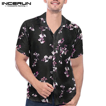 Casual Streetwear Beach Slim Short Sleeve Shirts
