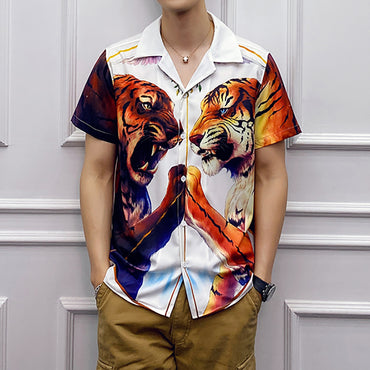 Casual Shirt Chemise Hawaienne Homme Korean Short Sleeve Shirts