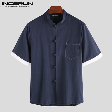 Chinese Style Casual Short Sleeve Shirts