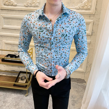 Long Sleeve  Social Shirts Casual Dress Shirt
