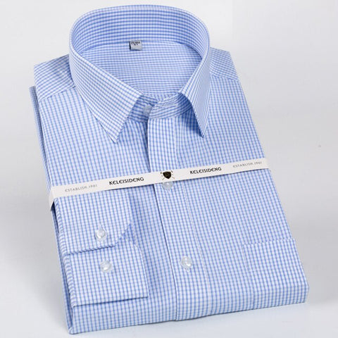 Classic Long Sleeve Non-Iron Striped Dress Shirt