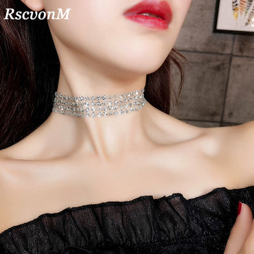 Fake Collar Choker Necklace