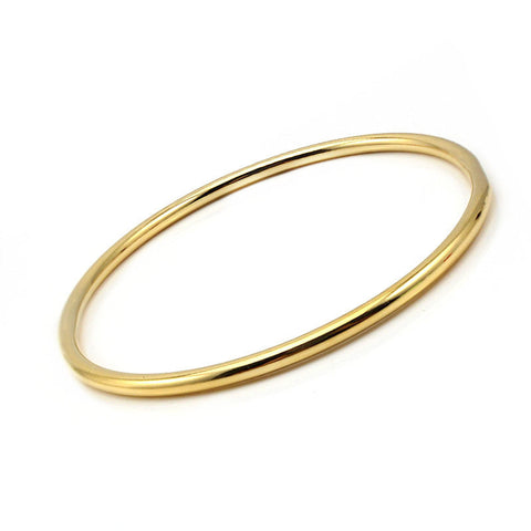 Stainless Steel Classic Round Gold 3MM Single Circle Bracelet & bangles