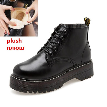 Lace-Up Knitted Flat Shoes Rubber Boots