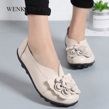 Genuine Leather Ballet Flats Shoe