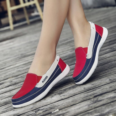 Mixed Colors Footwear Slip On Flats Shoe
