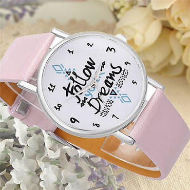 Casual Leather Vintage Bracelet Clock Watch
