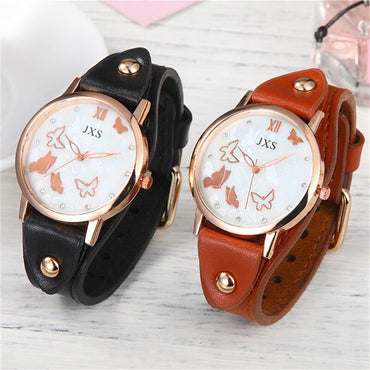 Leather Belt Quartz Wristwatch