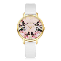 Colorful Pattern Dial Ladies Quartz Wristwatch
