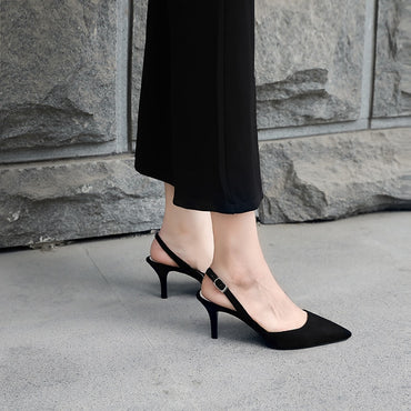 Korean fine with 6 cm pointed wild high heels