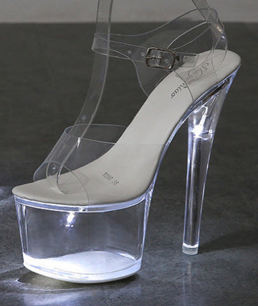 Luminous Sandals Shoes Catwalk Pole Dancing heel