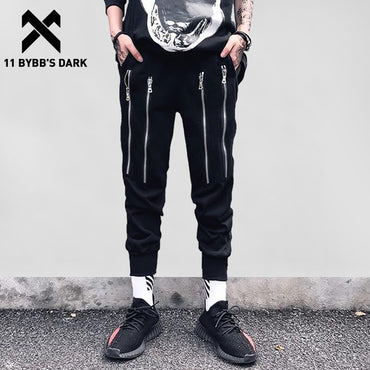 Jogger Zipper Design Hip Hop Pants