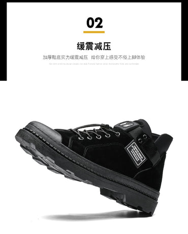 Cotton-padded Shoes Korean-style Trend Versatile Mid-top Martin Boots