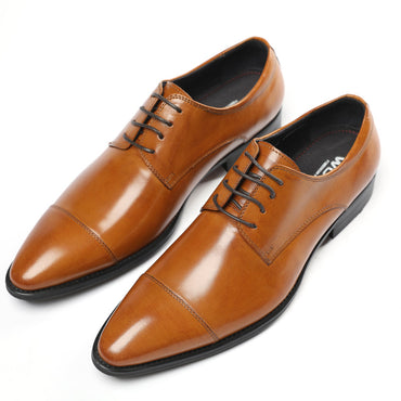 Formal Wear Leather Shoes Pointed Toe Style Leather Oxford shoes