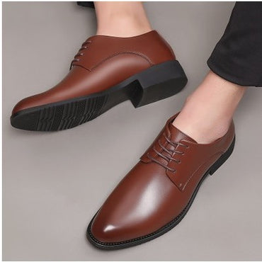 Retro Vintage Leather Shoes Pointed Toe Lace-Up Oxford shoes
