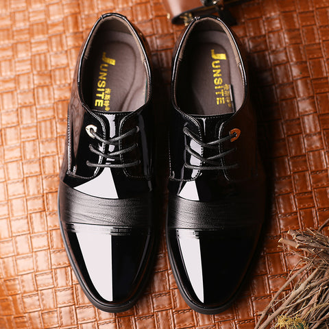 Genuine Leather Lace-up Oxford shoes