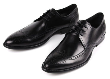 Pointed Toe Leather  Cowhide Leather Oxford shoes