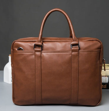 zipper solid business OL  Briefcases pu leather  computer handbags