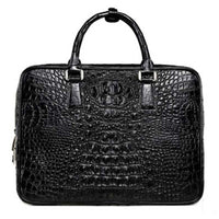 The crocodile leather bag business leisure handbags